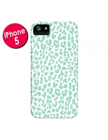 Coque Leopard Menthe Mint pour iPhone 5 et 5S - Mary Nesrala