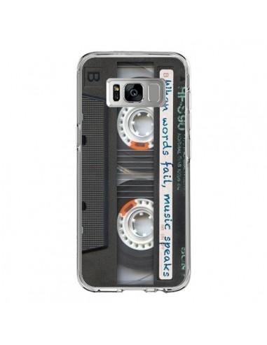 Coque Samsung S8 Cassette Words K7 - Maximilian San
