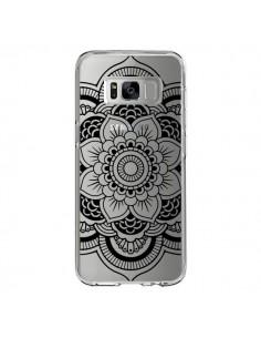 Coque Samsung S8 Mandala Noir Azteque Transparente - Nico