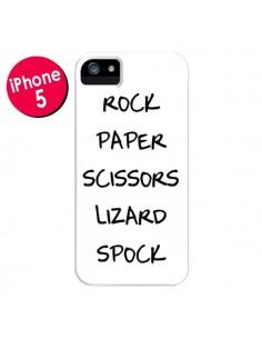 Coque Pierre Papier Ciseau pour iPhone 5 et 5S - Mary Nesrala