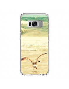 Coque Samsung S8 Mouette Mer Ocean Sable Plage Paysage - R Delean
