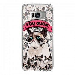 Coque Samsung S8 Chat Grumpy Cat - You Suck - Sara Eshak