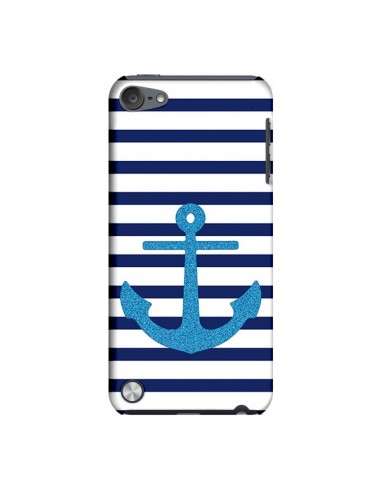 Coque Ancre Voile Marin Navy Blue pour iPod Touch 5 - Mary Nesrala