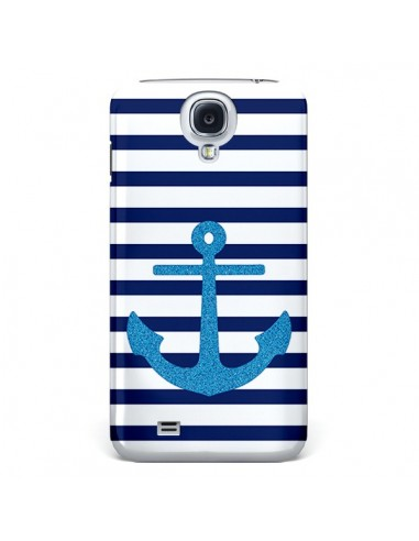 Coque Ancre Voile Marin Navy Blue pour Galaxy S4 - Mary Nesrala