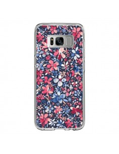 Coque Samsung S8 Colorful Little Flowers Navy - Ninola Design