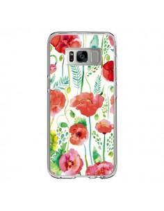 Coque Samsung S8 Planets Constellation Pink - Ninola Design