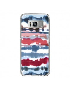 Coque Samsung S8 Smoky Marble Watercolor Dark - Ninola Design