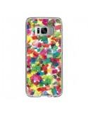 Coque Samsung S8 Speckled Watercolor Blue - Ninola Design