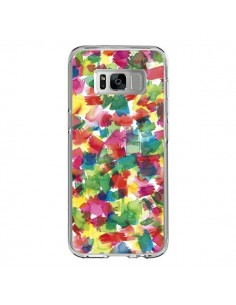 Coque Samsung S8 Speckled Watercolor Blue - Ninola Design
