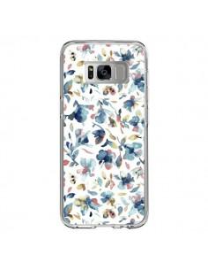 Coque Samsung S8 Watery Hibiscus Blue - Ninola Design
