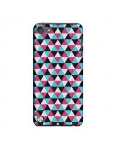 Coque Azteque Triangles Rose Bleu Gris pour iPod Touch 5 - Mary Nesrala