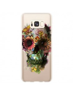 Coque Samsung S8 Plus Skull Flower Tête de Mort Transparente - Ali Gulec