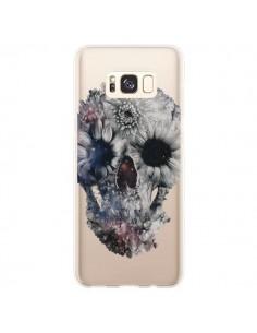 Coque Samsung S8 Plus Floral Skull Tête de Mort Transparente - Ali Gulec