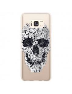 Coque Samsung S8 Plus Doodle Skull Dessin Tête de Mort Transparente - Ali Gulec