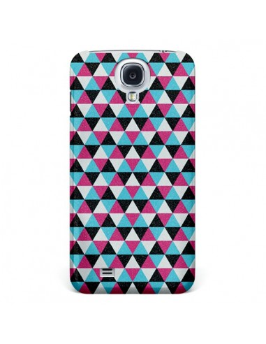 Coque Azteque Triangles Rose Bleu Gris pour Galaxy S4 - Mary Nesrala