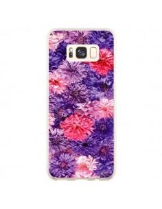Coque Samsung S8 Plus Fleurs Violettes Flower Storm - Asano Yamazaki