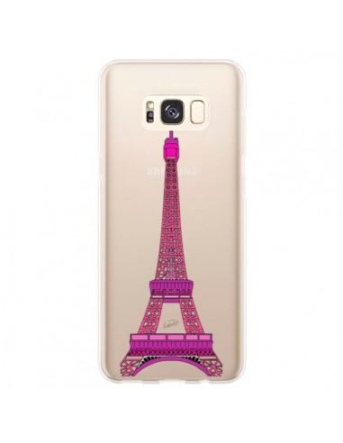 Coque Samsung S8 Plus Tour Eiffel Rose Paris Transparente - Asano Yamazaki