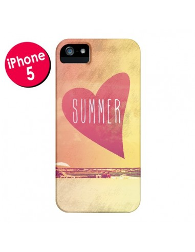 Coque Summer Love Eté pour iPhone 5 et 5S - Mary Nesrala