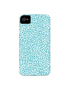 Coque Leopard Turquoise pour iPhone 4 et 4S - Mary Nesrala