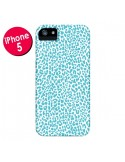 Coque Leopard Turquoise pour iPhone 5 et 5S - Mary Nesrala