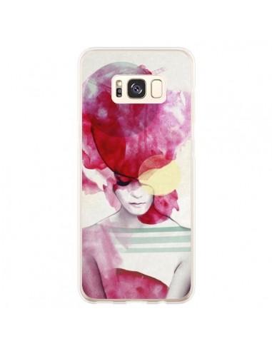 Coque Samsung S8 Plus Bright Pink Portrait Femme - Jenny Liz Rome