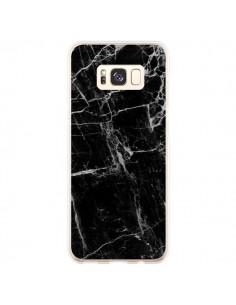 Coque Samsung S8 Plus Marbre Marble Noir Black - Laetitia