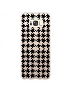 Coque Samsung S8 Plus Vichy Carre Noir Transparente - Petit Griffin