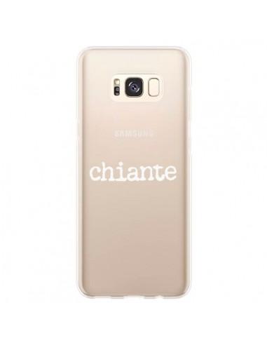 Coque Samsung S8 Plus Chiante Blanc Transparente - Maryline Cazenave