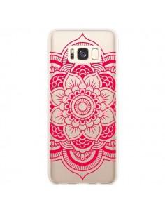 Coque Samsung S8 Plus Mandala Rose Fushia Azteque Transparente - Nico
