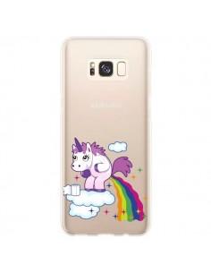 Coque Samsung S8 Plus Licorne Caca Arc en Ciel Transparente - Nico
