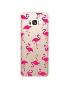 Coque Samsung S8 Plus flamant Rose et Flamingo Transparente - Nico
