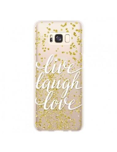 Coque Samsung S8 Plus Live, Laugh, Love, Vie, Ris, Aime Transparente - Sylvia Cook