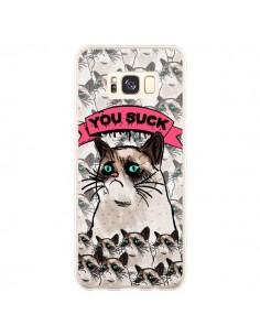 Coque Samsung S8 Plus Chat Grumpy Cat - You Suck - Sara Eshak