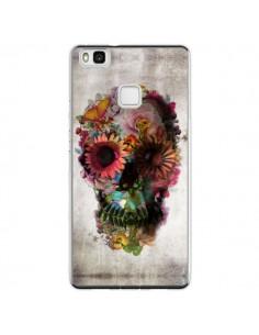 Coque Huawei P9 Lite Skull Flower Tête de Mort - Ali Gulec