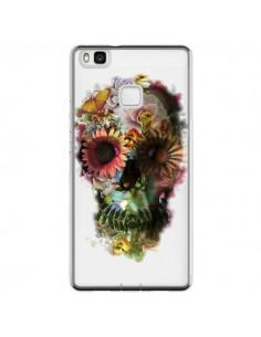 Coque Huawei P9 Lite Skull Flower Tête de Mort Transparente - Ali Gulec