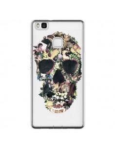 Coque Huawei P9 Lite Skull Vintage Tête de Mort Transparente - Ali Gulec