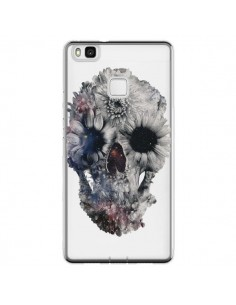 Coque Huawei P9 Lite Floral Skull Tête de Mort Transparente - Ali Gulec