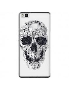Coque Huawei P9 Lite Doodle Skull Dessin Tête de Mort Transparente - Ali Gulec