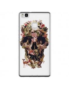 Coque Huawei P9 Lite Jungle Skull Tête de Mort Transparente - Ali Gulec