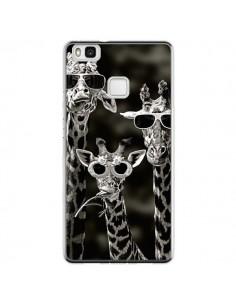 Coque Huawei P9 Lite Girafe Swag Lunettes Familiy Giraffe - Asano Yamazaki