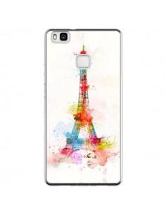 Coque Huawei P9 Lite Paris Tour Eiffel Muticolore - Asano Yamazaki