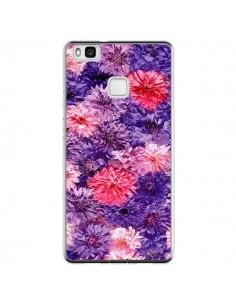 Coque Huawei P9 Lite Fleurs Violettes Flower Storm - Asano Yamazaki