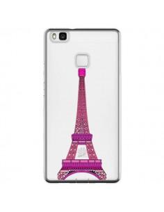 Coque Huawei P9 Lite Tour Eiffel Rose Paris Transparente - Asano Yamazaki