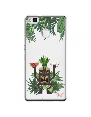 Coque Huawei P9 Lite Tiki Thailande Jungle Bois Transparente - Chapo