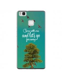 Coque Huawei P9 Lite Let's Go Far Away Tree Arbre - Eleaxart