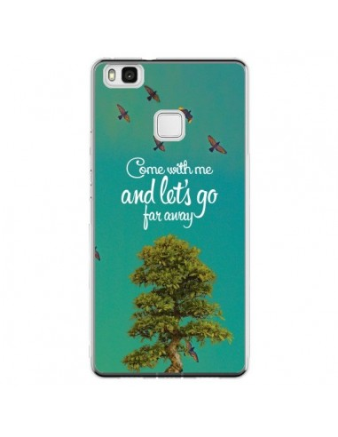 Coque Huawei P9 Lite Let's Go Far Away Tree Arbre - Eleaxart