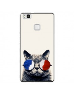 Coque Huawei P9 Lite Chat à lunettes françaises - Gusto NYC