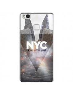 Coque Huawei P9 Lite I Love New York City Gris - Javier Martinez