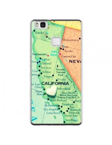 Coque Huawei P9 Lite Carte Map...