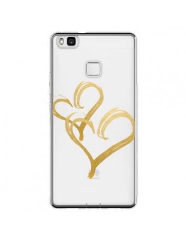 Coque Huawei P9 Lite Deux Coeurs Love...